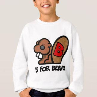 B ist für Biber Sweatshirt