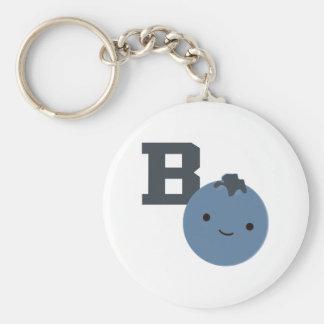 B ist für Blaubeere Schlüsselanhänger