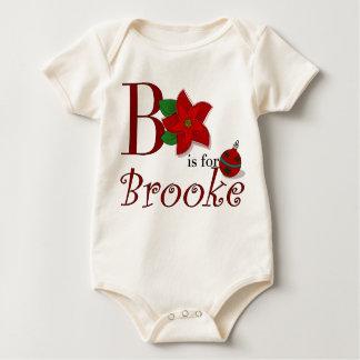 B ist für Brooke, erstes T-Stück des Babys Baby Strampler
