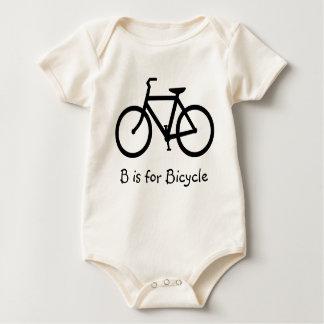 B ist für Fahrrad Baby Strampler