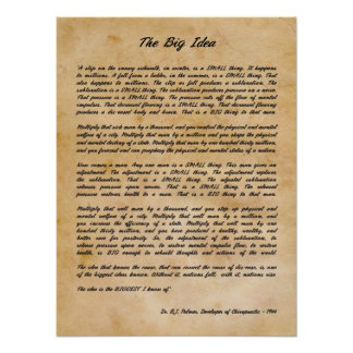 B J Palmer - der große Ideen-Chiropraktik-Druck Poster
