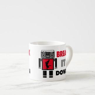 B-Junge Boombox Roboter-Bruch es unten Espressotasse
