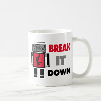 B-Junge Boombox Roboter-Bruch es unten Kaffeetasse