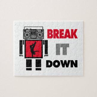 B-Junge Boombox Roboter-Bruch es unten Puzzle