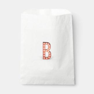 B-Monogramm-Festzelt-Birne Geschenktütchen