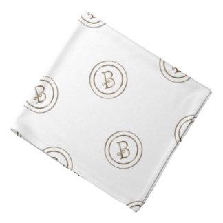 B-Monogramm Kopftuch