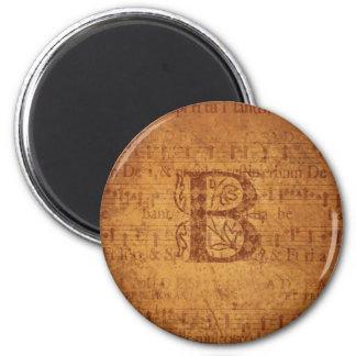 B-Monogramm Runder Magnet 5,7 Cm