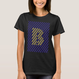 B of blue and yellow T-Shirt