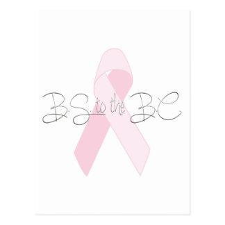 B.S. zu B.C. (Brustkrebs) Postkarte