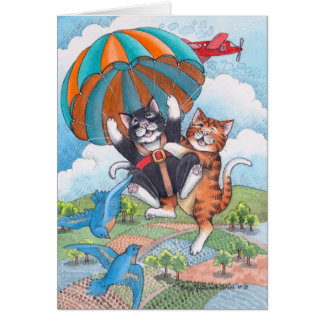 B u. Fallschirm-Geburtstags-Anmerkung T #57 Karte