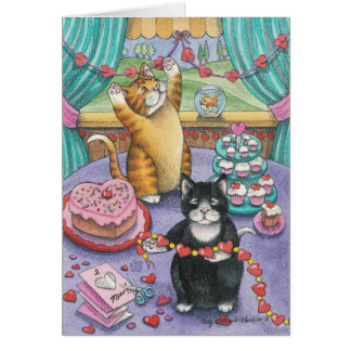 B u. Valentinsgruß-Anmerkung T #14 Karte