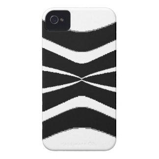 B u. w-Streifen Pinched.gif iPhone 4 Case-Mate Hülle