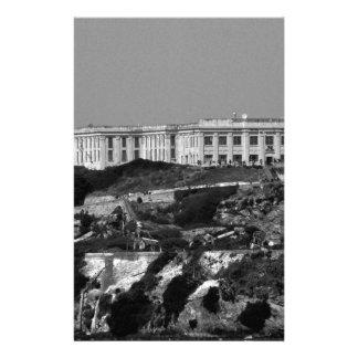 B&W Alcatraz Insel Briefpapier
