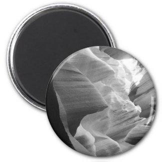 B&W Antilopen-Schlucht 2 Runder Magnet 5,7 Cm