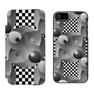 B/W Balance Incipio Watson™ iPhone 5 Geldbörsen Hülle