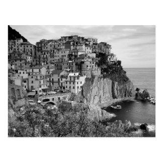 B&W Cinque Terre Postkarte