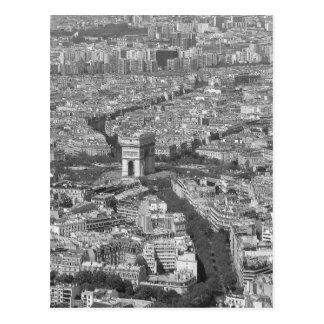 B&W der Arc de Triomphe 5 Postkarte