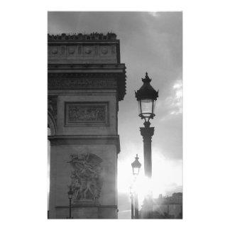 B&W der Arc de Triomphe Briefpapier