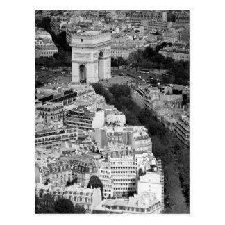 B&W der Arc de Triomphe Postkarte