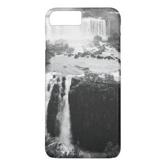 B&W die Iguaçu-Wasserfälle iPhone 7 Plus Hülle