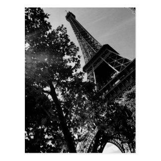 B&W Eiffelturm 2 Postkarte