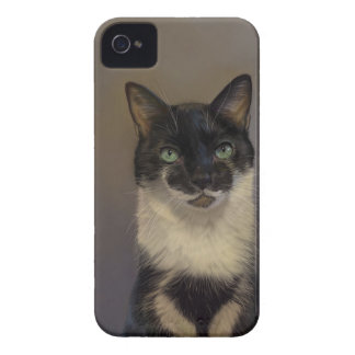 B&W Katze iPhone 4 Cover
