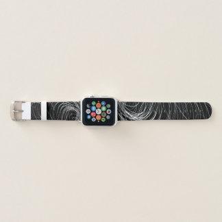 B&W komplexer Strudel - Apple-Uhrenarmband Apple Watch Armband