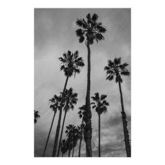 B&W Los Angeles Palmen Personalisierte Druckpapiere