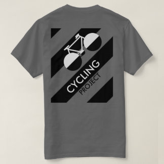 b&w modernes grafisches radfahrenprojekt T-Shirt