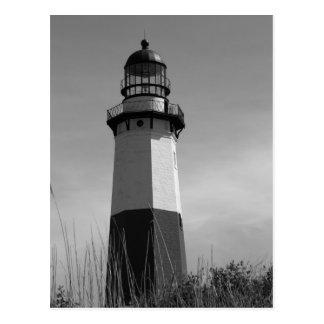 B&W - Montauk Leuchtturm - Postkarte 2