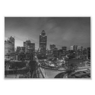 B&W Montreal Fotodruck