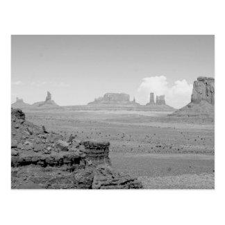 B&W Monument-Tal Postkarte