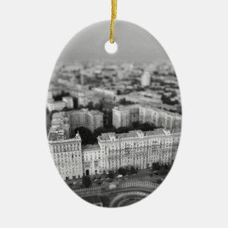 B&W Moskau Skyline Keramik Ornament