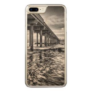 B&W Pier an der Dämmerung, Kalifornien Carved iPhone 8 Plus/7 Plus Hülle
