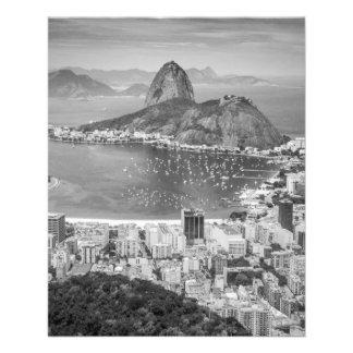 B&W Rio de Janeiro Luftaufnahme Flyer