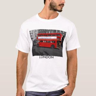B/W Rot abgetönter London roter Bus-T - Shirt