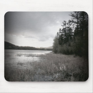 B&W See-Sumpf-Landschaft Mousepad