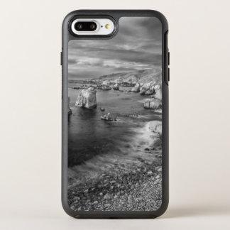 B&W Strandküstenlinie, Kalifornien OtterBox Symmetry iPhone 8 Plus/7 Plus Hülle
