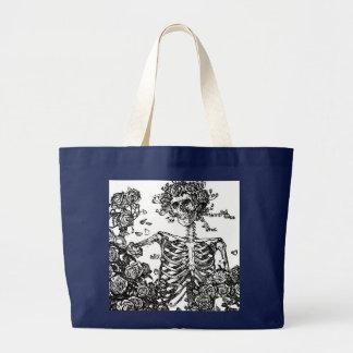 B&W Tag der toten Taschen-Tasche Jumbo Stoffbeutel