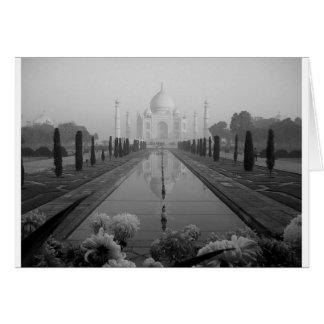 B&W Taj Mahal Karte