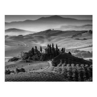 B&W Toskana Postkarte