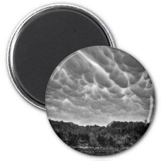 B&W Wolke Awesomeness Runder Magnet 5,1 Cm