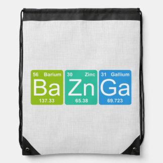 Ba-Zn GA! Periodensystem-Elementedrawstring-Tasche Turnbeutel