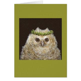 Babs die Owletkarte Grußkarte