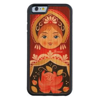 Babushka Matryoshka rote russische Puppe Bumper iPhone 6 Hülle Kirsche