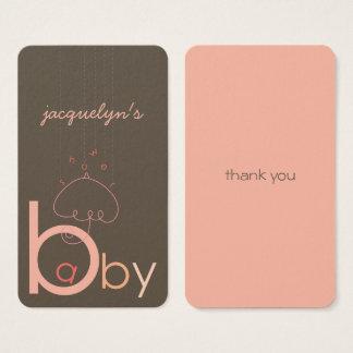 """Baby """"a"""" B im rosa Geschenk-Umbau der Visitenkarte"""