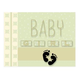 Baby-Abdrücke Postkarte