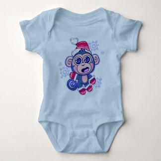 Baby-Affe-Stoff Baby Strampler