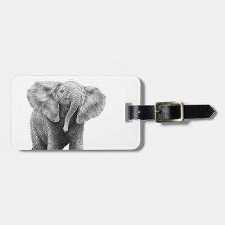 Baby-afrikanischer Elefant-Gepäckanhänger Kofferanhänger