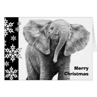 Baby-afrikanischer Elefant-Weihnachtskarte Karte